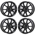 17 DODGE DART BLACK WHEELS FACTORY OEM 2013 2014 2015 2016 SET 4 2445 EXCHANGE