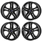 19 FORD EDGE BLACK WHEELS FACTORY OEM 2015 2016 2017 2018 SET 4 10045 EXCHANGE