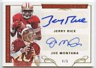 Joe Montana & Jerry Rice 2016 national treasures 49ers dual auto autograph 4 5