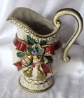 Fitz and Floyd Christmas Deer Pitcher Large 10