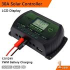 30A 12V 24V LCD Solar Charge Controller Solar Panel Battery Regulator PWM KJ