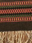 Wool Native Style Table Runner 100 Hand Woven Fringed 12x48