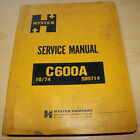 HYSTER C600A SERIES PAD FOOT ROLLER COMPACTOR Repair Shop Service Manual book