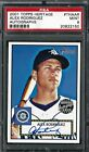 ALEX RODRIGUEZ 2001 Topps Heritage Real One Autographs PSA 9