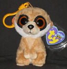 TY BEANIE BOOS - REBEL THE MEERKAT KEY CLIP - MINT with MINT TAG