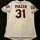 Authentic Majestic 56 3XL NEW YORK METS MIKE PIAZZA, COOL BASE SHEA PATCH Jersey