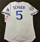 MAJESTIC AUTHENTIC SZ. 44 LARGE, Los Angeles Dodgers GRAY Corey Seager Jersey