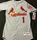 Authentic Majestic SIZE 44 LARGE, ST LOUIS CARDINALS, OZZIE SMITH, GRAY Jersey