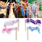 10PCS Fairy Twirling Ribbon Bell Wands Wedding Party Supplies Colourful + Sticks
