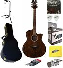 Dean AXS Exotic Caidie Cutaway Acoustic-Electric Guitar w/BK Hard Case Bundle