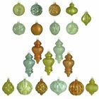 Christmas Tree Ornaments Holiday Shimmer Glass Set Ornament 20 Count