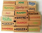 Personalized Name Rubber Stamp Your Coice of Names From K thru Z  New