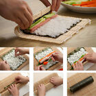 Sushi Mat Bamboo Maker Kit Rice Roll Mold Kitchen DIY Mould Roller Rice Paddle