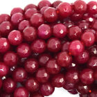 Faceted Ruby Red Jade Round Beads Gemstone 15 Strand 2mm 4mm 6mm 8mm 10mm 12mm
