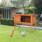 36 Wooden Rabbit Bunny Pet Cage Small Animal House Chicken Coop Single Deck