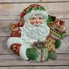 Fitz and Floyd Winter Holiday Santa Canape Plate