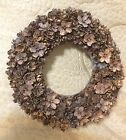 Fabulous Vintage HANDMADE ONE A KIND Small Pine Cone Christmas Wreath 7