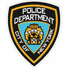 4 Inch Non Reflective New York Police Department NYPD Sticker Decal
