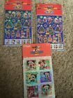 Lot Of 3 Sandylion Prismatic Mickey Mouse Christmas Stickers Minnie NIP