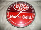 Vintage Dr Pepper Thermometer Hot Or Cold Large Works Great Antique Rare