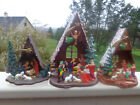 3 Vintage Plastic Nativity Scenesw Angel  Star
