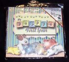 Puppy Themed Deluxe Scrapbook Kit 8 x 9 100s of Accessories Included