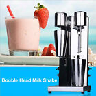 NEW Stainless Steel Milk Shake Machine Double Head Mixer Blender Make Foam