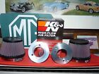 PAIR Alum Velocity Stacks  PAIR KN Conical Air Filters fits MGB HS6 Carbs