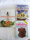LOT 3 WEIGHT WATCHERS COOKBOOKS POINTS NEW COMPLETE COOKBOOK POWER FOODS ++