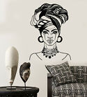 Vinyl Wall Decal African Woman Head Turban Native Face Tattoos Stickers 2026ig