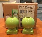 TWO CHARTREUSE FIESTA BULB CANDLE HOLDERS--NEW IN BOX!!