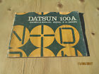 1971 DATSUN NISSAN CHERRY OWNERS MANUAL 100A E10