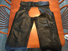 Harley Davidson OUTRIDER Deluxe LINED Leather Chaps PRISTINE Condition Mens XL