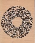 jills wreath norma glamp Wood Mounted Rubber Stamp 2 1 2x 3 Free Shipping