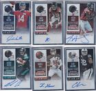 6 Card Auto Lot 2015 Contenders Silver Foil 199 No Dupes Hardy Walford Greene +