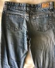 Size 3 4 Vintage HYDRAULIC Super Flare Boot Cut Blue Jeans 100 Cotton