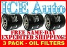 3 PACK Prime Guard Premium Engine OIL FILTERS Fram Wix AC Delco