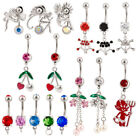 Lot 25 14G Assorted Styles Naval Belly Rings Mixed Barbells Body Jewelry BB 1001
