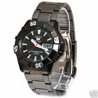 Seiko 5 Sports SNZF63  Men's Black Stainless Steel Day Date 100M Automatic Watch