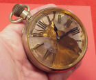 8 DAY 3 inch Colored Dial STAG DEER GOLIATH CARRIAGE Pocket Watch Omega 1917