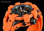 New Invicta Mens 50mm Bolt Sport Black Carbon Fiber Dial Orange Tone Cable Watch