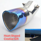 Universal 63mm Inlet Dia Heart Shaped Car Exhaust Pipe Muffler Tip Creative Gift