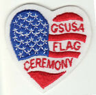 Girl Scout Patch  GSUSA Flag Ceremony mint condition