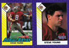 (2) 1993 STARTING LINEUP CARDS AERIAL ARTIST STEVE YOUNG SAN FRANCISCO 49ers
