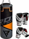 RDX Kids Punch Bag Set With Boxing Gloves  Swivel Hook Kickboxing Gym Orange US