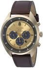 Seiko Men's Recraft Chrono Quartz Solar Powered Brown Leather Watch SSC570
