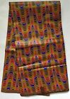 African Fabric Ankara Brown Red Legacy of Kwanzaa YARD or WHOLESALE