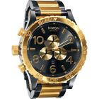 *NEW* NIXON 51-30 A083-595 WATCH MENS GUNMETAL GOLD TONE - NEXT DAY DELIVERY