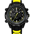 WH 6406 Ssilicone rubber weide watch analog digital sport waterproof luminous