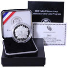 2011 P US Army Proof Commemorative 90 Silver Dollar OGP Coin
